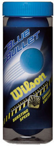 Wilson Blue Bullet Racquetballs 3 Ball Can