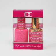 DND DC DUO SOAK OFF GEL AND LACQUER   013 Brilliant Pink   