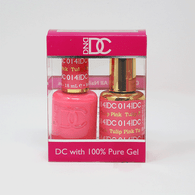 DND DC DUO SOAK OFF GEL AND LACQUER   014 Tulip Pink  