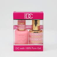 DND DC DUO SOAK OFF GEL AND LACQUER   017 Pink Bubblegum   