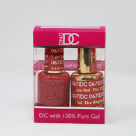 DND DC DUO SOAK OFF GEL AND LACQUER   067 Fire Engine Red  