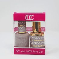 DND DC DUO SOAK OFF GEL AND LACQUER   079 Lead Gray  