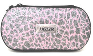 Large Zipper Case - Pink leopard
