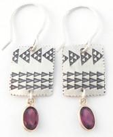 Earring Pattern with Garnet