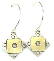 "A Square x2 Earring  with ""Protect this Woman"""