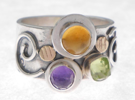 THREE STONE RING, CITRINE