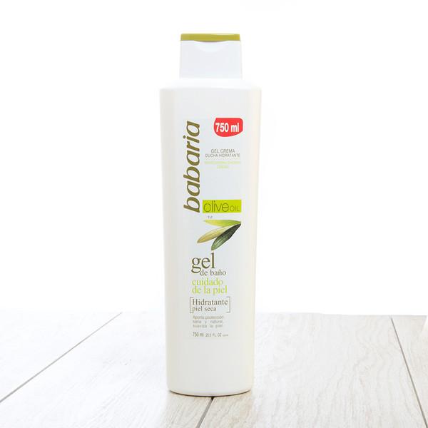 Gel de Baño hidratante piel seca con Aceite de Oliva Babaria. Babaria Shower Gel with Olive Oil