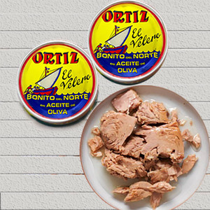 2 cans White Meat Tuna in Olive Oil by Ortiz (Special Promotion)