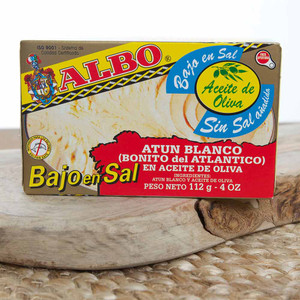 Low sodium White Tuna in Olive Oil by Albo