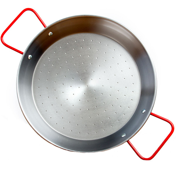 Garcima 11.75-Inch Polished Steel Paella Pan, 30 cm