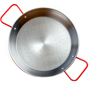 Garcima 11.75-Inch Polished Steel Paella Pan, 30 cm