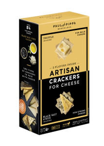 Artisan Crackers - Truffle and Black Salt - by Paul&Pippa