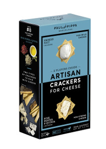 Artisan Crackers - Smoked Salt and Pink Pepper Quinoa - by Paul&Pippa