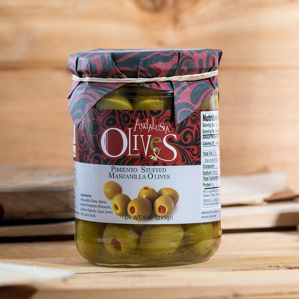 Green Olives Stuffed with Peppers by Andalusian Olives