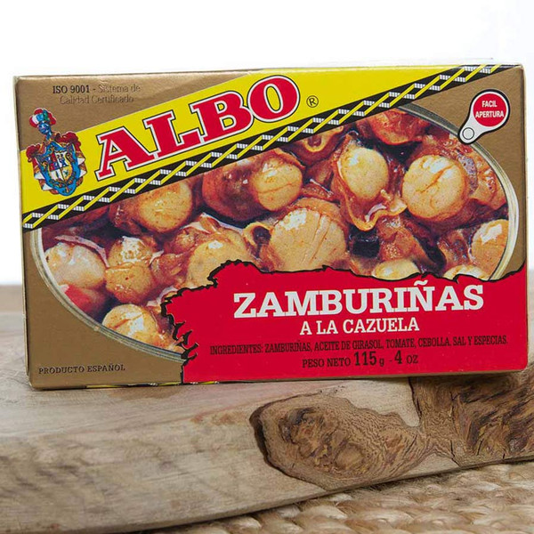 2 Tins of Queen Scallops in sauce by Albo