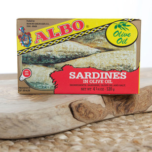 2 Tins of Sardines in Olive Oil by Albo