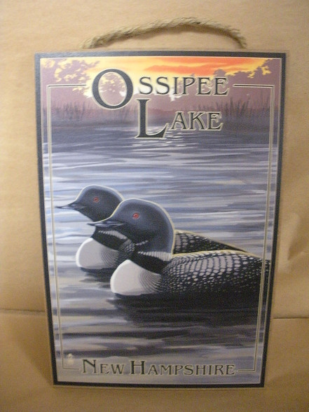 Ossipee Lake Sign ~ Indoor Use Only
