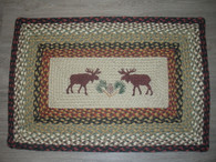 "Moose Rug Rectangle 20""x30"" ~ Jute Braided"