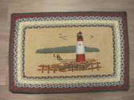 "Lighthouse Braided Rug Jute 20"" x 30"""