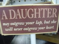 A Daughter ~ Wood Sign