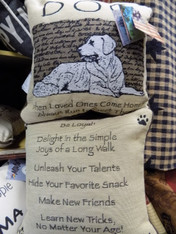 Pillow ~ Advice From A Dog