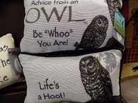 Pillow ~ Advice From An Owl