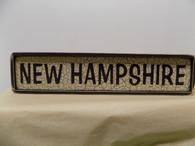 New Hampshire - wood sign