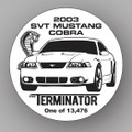 "SVT Cobra ""TERMINATOR"" Window Cling"