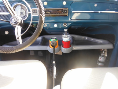 VWV1003 Under dash Fiberglass Tray with Cup Holders