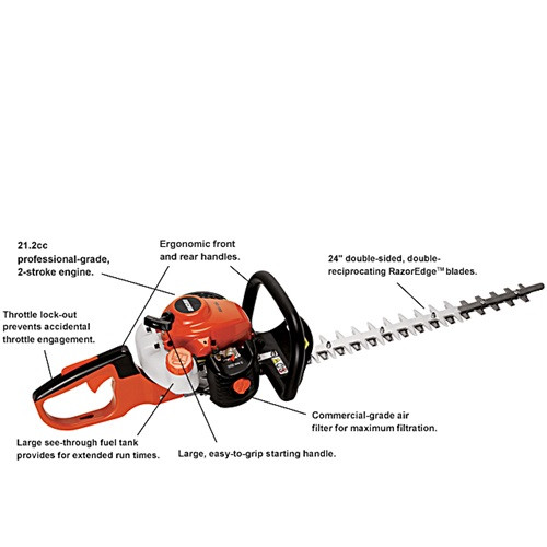 "Hedge Trimmer, 24"", Gas"