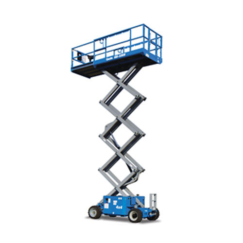 "GENIE Scissor Lift, GS-3369RT 33'H x 69""W all-terrain 4WD"