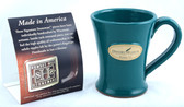 History Museum Mug: Teal Tapered