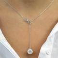 Infinity Y Swarovski Elements Necklace in Sterling Silver