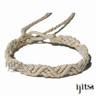 Natural hemp ZigZag Hemp Bracelet or Anklet