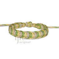 Natural/Light Yellow/Pistachio Flat Hemp Adjustable Bracelet or Anklet