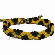 Yellow, green and brown hemp Snake bracelet or anklet