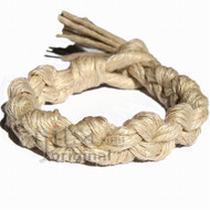 Wide natural hemp chain bracelet or anklet