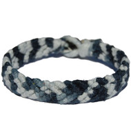 Black and white hemp Feather bracelet or anklet