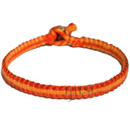 Tangerine and tangelo orange flat cotton bracelet or anklet