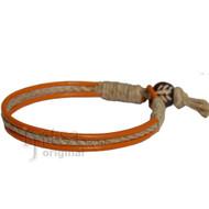 Marigold leather & hemp bracelet or anklet