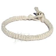 White hemp Caterpillar bracelet or anklet