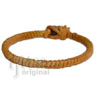 Golden brown hemp Caterpillar bracelet or anklet