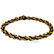 Yellow and Licorice Wide Twisted Hemp Choker Necklace