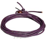 2mm adjustable Purple leather wrap bracelet