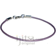 2mm chandni leather bracelet or anklet, metal clasp