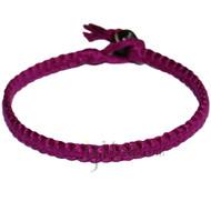 Magenta flat cotton bracelet or anklet