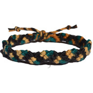 Licorice, golden brown rainbow and midory hemp Snake bracelet or anklet