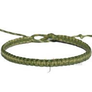 Avocado and olive rainbow flat hemp bracelet or anklet
