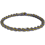 Periwinkle and olive wide twisted hemp necklace