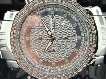 MENS JOJINO/JOJO/JOE RODEO DIAMOND WATCH SHINY DIAL .25 CT BIG FACE 50MM MJ-1101